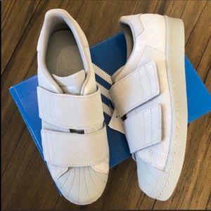 Adidas originals superstar sneakers gray Velcro